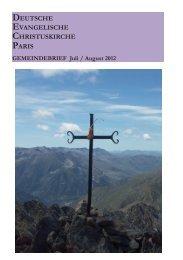 GEMEINDEBRIEF Juli / August 2012 - Deutsche evangelische ...