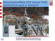 Nutzungskonflikt CSS versus Tiefe Geothermie auch in Hessen?