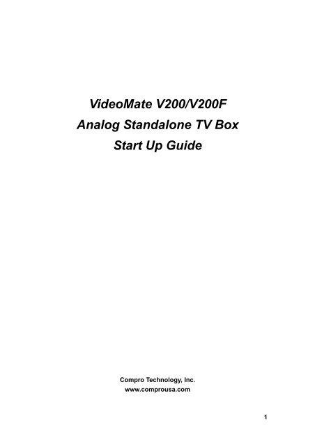 VideoMate V200 V200F TV Box Contents