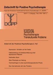 Heft 8 komplett - Positive und Transkulturelle Psychotherapie