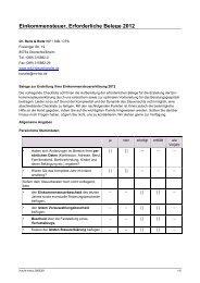 Checkliste zu Unterlagen Einkommensteuer 2012! - REITZ
