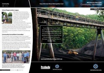 Metropolitan Coal Community Newsletter ... - Peabody Energy