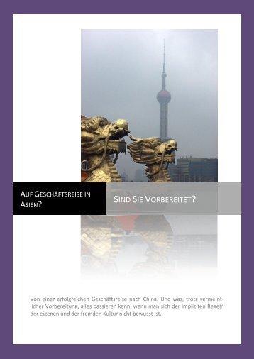 Smart guide: Auf Geschäftsreise in China - i-bcs