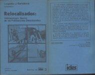 Ediciones del IDES Nº 3, Relocalizados.