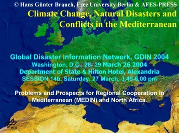 Climate Change, Natural Disasters and Conflicts in the Mediterranean