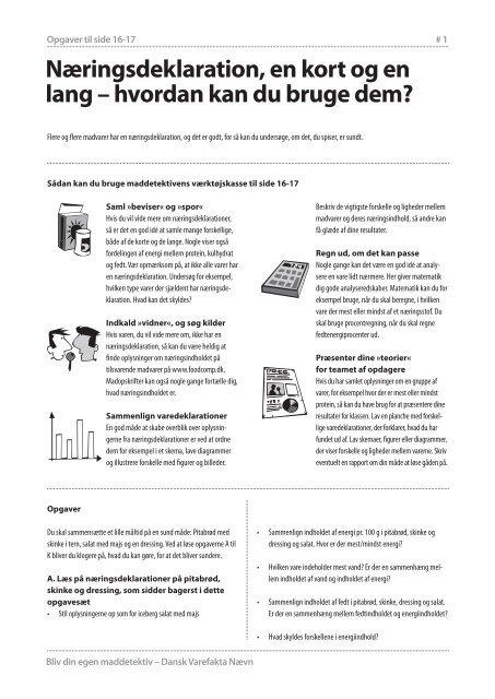 Næringsdeklaration, en kort og en lang – hvordan kan du bruge dem?