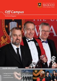 2010 - Alumni - The University of Waikato