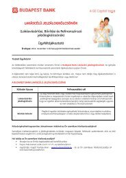 Ügyfél-tájékoztató - Budapest Bank