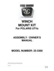 owners manual cc25-3300 - winch mount kit pol - Schuurman B.V.