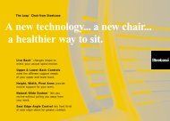 A new technology... a new chair... a healthier way to sit.