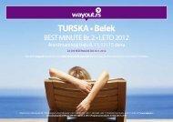 TURSKA • Belek - Wayout