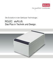 aluPLUS-Prospekt - komplett - ROLEC Gehäuse-Systeme GmbH