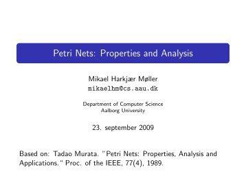 Petri Nets: Properties and Analysis