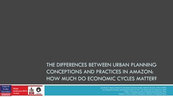 The Differences Between Urban Planning Conceptions and ...