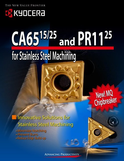 for Stainless Steel Machining - Kyocera