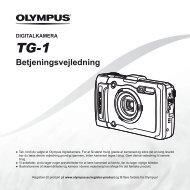 Betjeningsvejledning TG-1 - Olympus