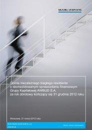 Opinia biegłego rewidenta 2012_skonsolidowane pobierz - Awbud