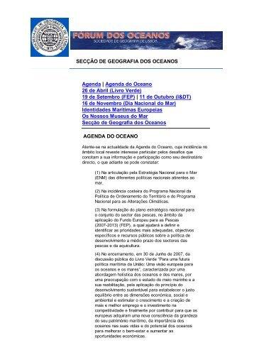 2008_agenda_do_oceano - Sociedade de Geografia de Lisboa