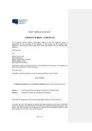 12.I&M.OP.338 Draft Contract - European Defence Agency - Europa