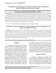 Desempenho e Características de Carcaça de Frangos de Corte ...