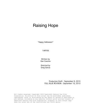 Raising Hope - Zen134237.zen.co.uk