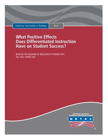 What Positive Effects Does Differentiated Instruction Have on ...