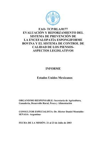 tcp/rla/0177 evaluación y reforzamiento del sistema de - FAO