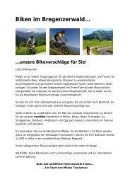 Biken im Bregenzerwald…