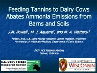 Feeding Tannins to Dairy Cows Feeding Tannins to Dairy Cows ...