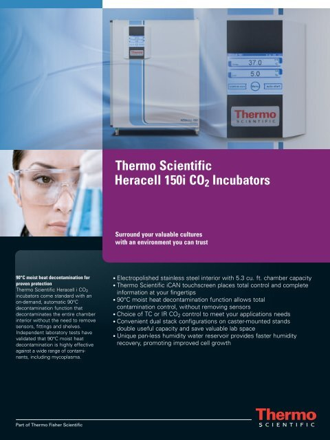 Thermo Scientific Heracell 150i CO2 Incubators - TekniScience.com