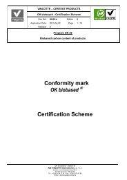 Conformity mark OK biobased ® Certification Scheme - OK compost