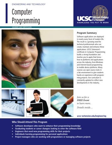 Computer Programming - UCSC Extension Silicon Valley