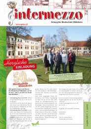 NOTEN FÜR JEDE TONLAGE - in der Musikschule  Hildesheim