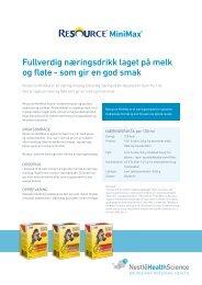 Resource MiniMax Næringsdrikke - nestle nutrition