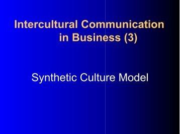 Cross-cultural Communication in International Strategic Business ...