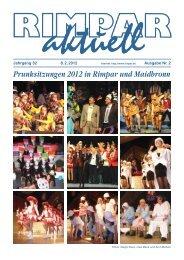 Mi 08.02.2012 Rimpar- AKTUELL - Freunde der Musik Hettstadt