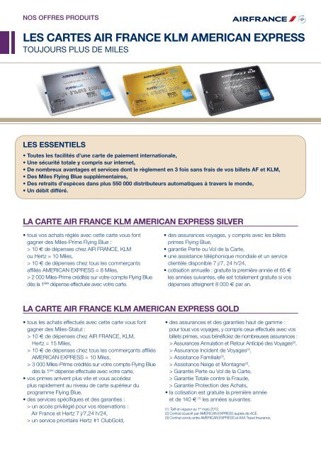 Carte American Express Paiement Differe.Les Cartes Air France Klm American Express Afklm