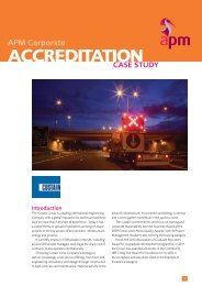Read the full case study here - Association for Project Management