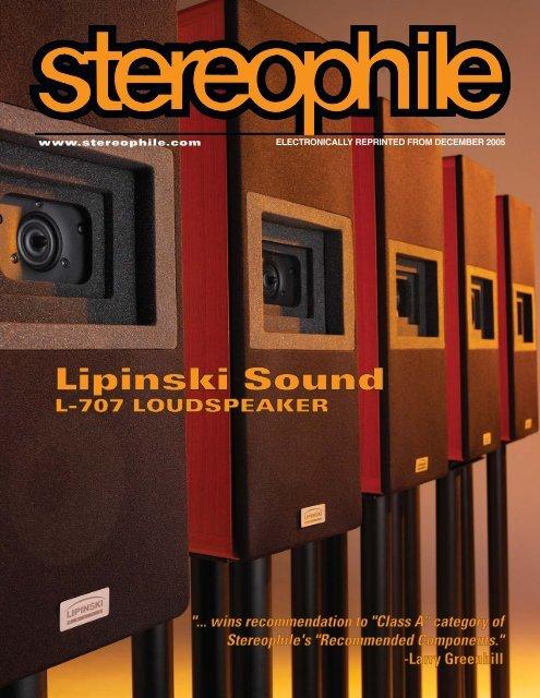 Stereophile - L-707 Monitors - Lipinski Sound