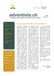135_-Août 2011 - Fédération des Eglises Adventistes du 7e jour de ...