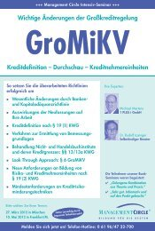 Seminar: Neue Gromikv - Management Circle AG