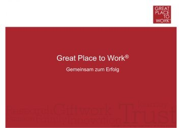 Download [Präsentation] - Great Places to Work