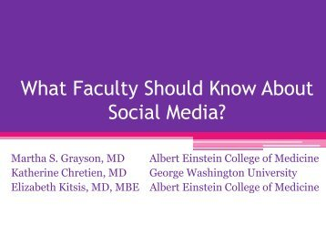 What Faculty Should Know About Social Media?
