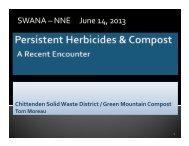Persistent Herbicides & Compost - Ecomaine