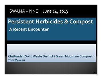 Persistent Herbicides & Compost - Ecomaine