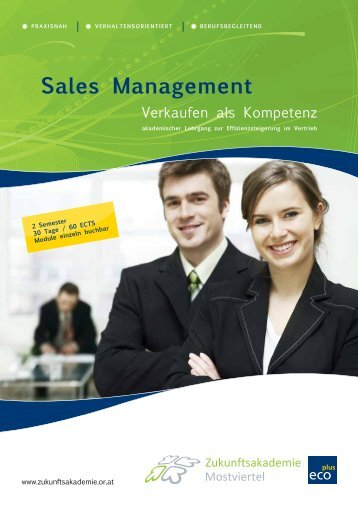 Sales Management Folder - Austrian Marketing University of Applied ...