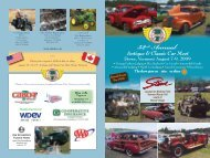 Antique and Classic Car Show - Vermont Automobile Enthusiasts