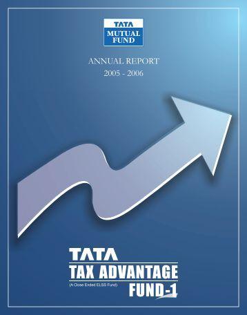 ANNUAL REPORT 2005 - 2006 - Tata Mutual Fund