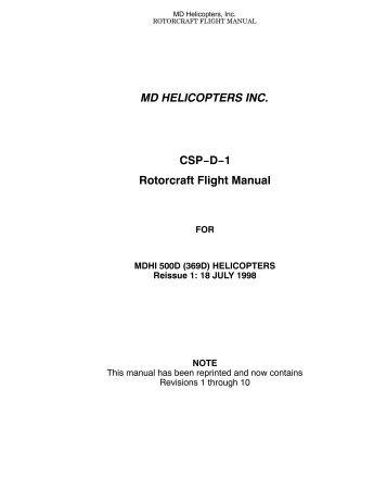 Md csp-e-1 rotorcraft flight manual for mdhi 500e (369e.