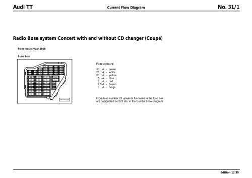 Audi TT Coupe Bose Concert Wiring diagram.pdf Wiring Diagram For Audi Tt on